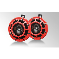 HELLA TWIN SUPERTONE HORN KIT RED