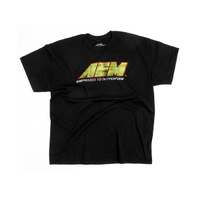 AEM  T-SHIRT AEM LOGO DISTRESSED, BLACK - 3X 01-1306-XXXL