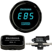 Zeitronix Ethanol Content Analyzer Kit (ECA-2) BLUE Gauge Round