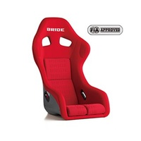 GENUINE BRIDE ZETA III PLUS FIA APPROVE FULL BUCKET SEAT RED LOGO FRP