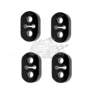 KARTBOY Exhaust Hangers - 15mm Black 4 piece Combo (inc. WRX/STi 94-07)