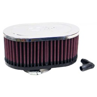 K&N Universal Clamp-On Air Filter For 2-1/16O/S FLG, 7 X 4-1/2, 3H, OVAL RA-072V