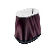 K&N Uni Clamp-On Air Filter OVAL FLG, 6-1/2X 4, 5-1/2X 7-3/4B, 6-3/4H RF-1019