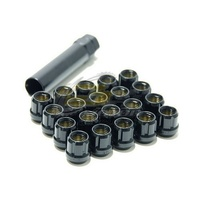 Muteki Short Lug Nuts Open End Black(12 x 1.5) - 31886B