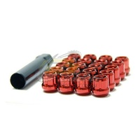 Muteki Short Lug Nuts Open End Red(12 x 1.5) - 31886R