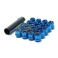 Muteki Short Lug Nuts Open End Blue(12 x 1.5) - 31886U