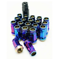 Muteki SR45R Rotating Taper Lug Nuts Open End  (12 x 1.5)Burning Blue - 32936UN