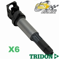 TRIDON IGNITION COIL x6 FOR BMW  525i E39 09/02-10/03, 6, M54