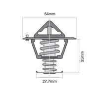 TRIDON HF Thermostat For Jeep Wrangler TJ 10//96-01//00 4.0L MX,ER