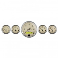"AUTOMETER 5 PC GAUGE KIT,3-1/8"" & 2-1/16"",ELECTRIC SPEEDOMETER,ANTIQUE BEIGE # 1809"
