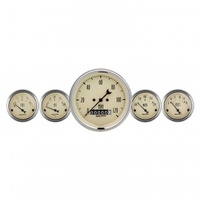 "AUTOMETER 5 PC GAUGE KIT,3-3/8"" & 2-1/16"",ELECTRIC SPEEDOMETER,ANTIQUE BEIGE # 1840"