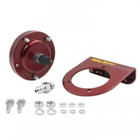 FUEL PRESSURE ISOLATOR KIT,FOR 15 PSI GAUGES,RED ANODIZED ALU,-4AN FITTINGS