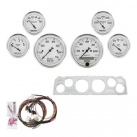 AUTOMETER 6 GAUGE DIRECT-FIT DASH KIT,CHEVY TRUCK 64-66,OLD TYME WHITE # 7043-OTW