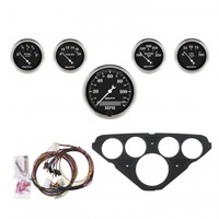 AUTOMETER 5 GAUGE DIRECT-FIT DASH KIT,CHEVY TRUCK 55-59,OLD TYME BLACK # 7049-OTB
