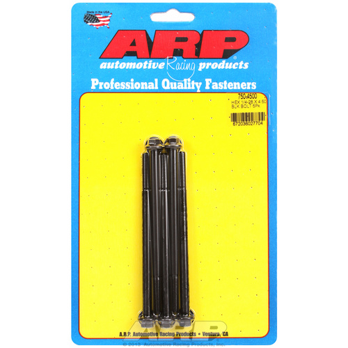ARP FOR 1/4-28 x 4.500 hex black oxide bolts